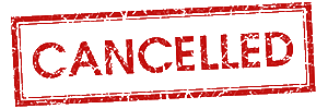 Cancelled stamped in red